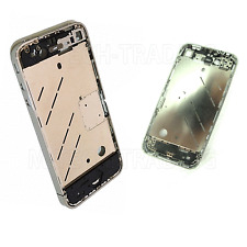 !! NEW GENUINE IPHONE 4 4G INNER MIDDLE BEZEL FRAME SILVER HOUSING CHASSIS PART