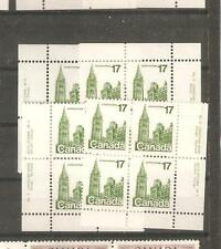 pk17046:Stamps-Canada #790 Parliament Plate 2  17 cent Set of Plate Blocks-MNH