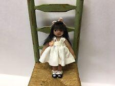 Miniature Tiny Dolls, Doll, White Dress, OOAK, B Justice