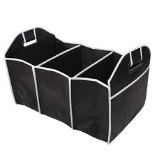 CAR FOLDABLE BOOT STORAGE BAG TRUNK ORGANISER TOOLS PICNINC TRAVEL LARGE BLACK