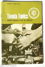 Vintage 1968 Toyota Topics TOYOTA OWNERS CLUB OF AMERICA Booklet Vol. 2