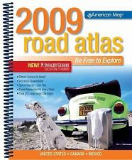 American Map 2009 Road Atlas Midsize: United States, Canada, Mexico (R-ExLibrary