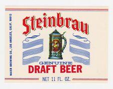 Steinbrau Genuine Draft Beer Label