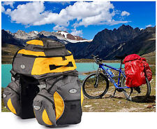 65L Cycling Bicycle Bike Front Rear Frame Seat Backpack Bag Triple Pannier Set