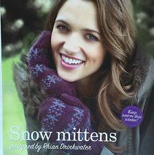 KNITTING PATTERN Ladies Snowflake Patterned Mittens Gloves Twilleys PATTERN