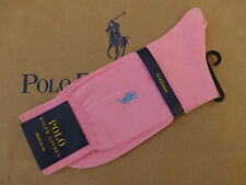 Polo Ralph Lauren Lujo Exclusivo Rosa De Algodón Vestido Calcetines Talla 43-46 1 par BNWT