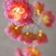 78inch 20-LED Battery Operated Diwali Decor Flower String Lamp Fairy Light Decor