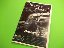 OWNERS MANUAL REMINGTON 700,SEVEN, 710, 715, 770 & 763