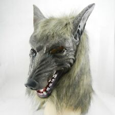 Halloween Cosplay Creepy Wolf Head Mask Latex Scary Animal Party Costume Props