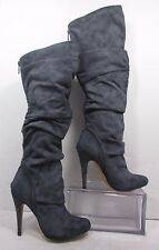 Michael Antonio Mckay Blue/Gray Knee High  Fashion High Heel Boots Sz 7M