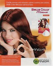 ▬► PUBLICITE ADVERTISING AD Belle color Mousse couleur cheveux hair GARNIER 2013