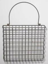 Metal Wire Basket Wall Pocket Arrangement Mail Holder Organizer Country Style