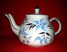 Gibson's Staffordshire England Tea Pot Blue & Pink Flowers
