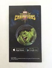 SDCC 2016 EXCLUSIVE MARVEL CONTEST OF CHAMPIONS HULK PIN BUTTON APP PHONE GAME