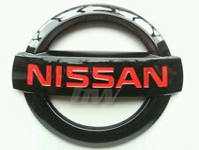 CUSTOM BLACK GLOSS & RED NISSAN BADGE 350Z GTR 370Z NAVARA JUKE NOTE SMALL SIZE