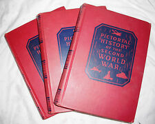 1946 Pictorial History of the Second World War-Three Volumes