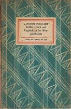 IB 126(2A) - Burckhardt: Größe, Glück und Unglück in der Weltgeschichte  EA 1930