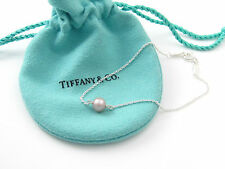 Tiffany & Co NEW MINT SILVER RARE Peretti Pink Pearl By The Yard Bracelet