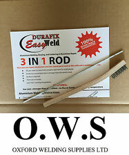 Aluminium Welding Brazing Low Temp Durafix Easyweld Rod - 225mm TRIAL ROD+BRUSH