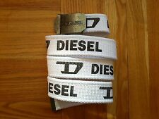 DIESEL CANVAS WHITE BELT,NEW NO TAGS