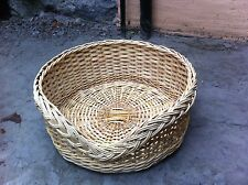 New Natural Wicker Pet Dog Cat Sofa Bed House Kennel