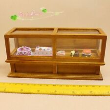 1:12 Dollhouse Miniature Bakery Display Case Wood furniture for Store Decor