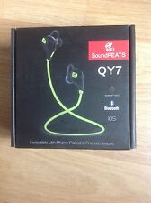 SoundPEATS QY7 Bluetooth 4.1 Wireless Sports Earphones, blue, new and sealed