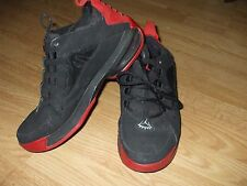 Vintage Puma black suede mesh with red rubber bottoms & red suede sneakers 8.5