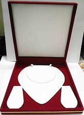 Deluxe XL Plush Red Velvet Satin Leather Jewelry Gift Box Necklace Presentation