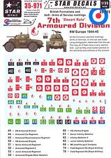 Star Decals 1/35 BRITISH 7th ARMOURED DIVISION ARMS OF SERVICE MARKINGS