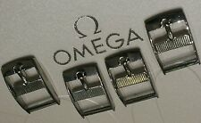 Lot of 4 Omega NOS BUCKLE Originale Fibbia STEEL 14mm