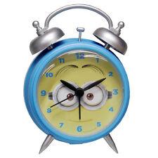 MINIONS sveglia a doppia campana in plastica azzurra camera bimbi idea regalo