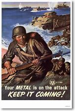 Metal is on the Attack - Vintage Art Print NEW  POSTER