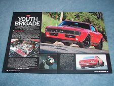 "1967 Camaro RS/SS Resto-Mod Article ""Youth Brigade"""