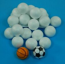 Polystyrene Balls Solid Ideal For Crafts Modelling  60mm 6CM Pack Of 20
