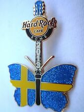 Hard Rock Cafe Rome Butterfly '13 Pin - Sweden Flag