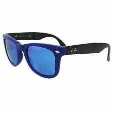 Ray-Ban Sunglasses Folding Wayfarer 4105 602017 Matt Blue & Grey Blue Mirror M