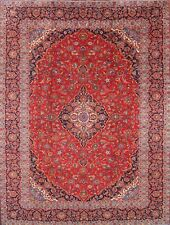 """Must See Traditional Red 10x12 Kashan Persian Oriental Area Rug 12' 5"""" x 9' 7"""""""