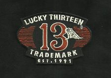 LUCKY THIRTEEN LUCKY 13 GAS TANK MOTORCYCLE ROCKABILLY HOT ROD PUNK BIKER PATCH
