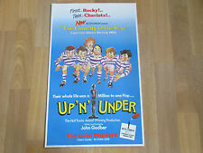 UP n UNDER  John Godber Hull Truck  RUGBY Comedy FORTUNE Theatre Original Poster