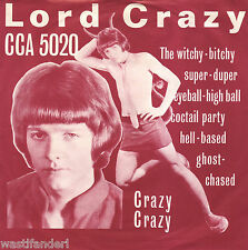 CCA 5020 Lord Crazy & The Safaris - Rare German Beat Single - 1966 - MINT