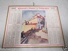ALMANACH PTT calendrier des postes 1937 VILLENEUVE LES AVIGNON *
