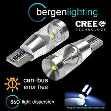 2x W5W T10 501 Errore Canbus libero Xenon Bianco 360 3 CREE Luce Laterale Lampadine sl102703