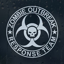 Zombie Outbreak Response Team crâne voiture ou ordinateur portable decal vinyl Autocollant