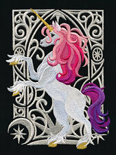 RICAMATO ART NOUVEAU superset di blocco, tessuto, Cuscino Panel, Wall Art, Unicorn, cavallo