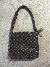 NWT BROWN BEADED ZIP CLOSE THE SAK PURSE GREAT FOR THE BEACH