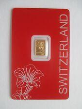 """1g Goldbarren, Pamp Suisse, """"Enzian"""", 999,9/1000 Fine Gold, im Blister, TOP !"""
