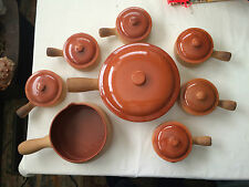 15 pieces Vintage Red Wing Provincial Ware No 22 Soup Marmite Covered Casserole