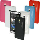 S Line TPU Gel Skin Case Cover Holder for HTC One MINI M4 + Screen Protector