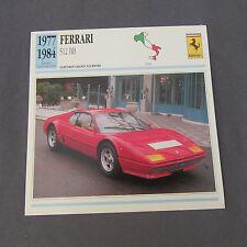 628C Edito Service Fiche Dépliant Ferrari 512 BB
